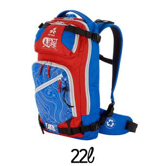 Sac à dos 22L CALGARY bleu/rouge