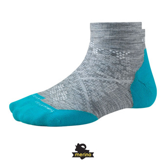 Chaussettes femme PHD RUN LIGHT ELITE LOW light gray/capri