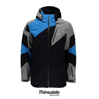 Chaqueta de esquí hombre LEADER black/polar herri/french blue