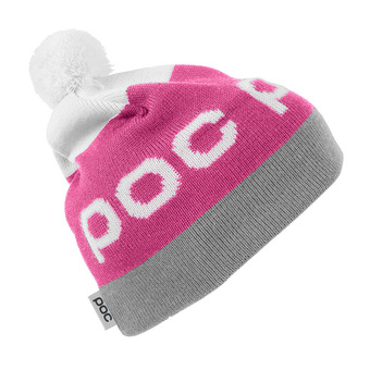 Bonnet STRIPE POM actinium pink/byzanium grey