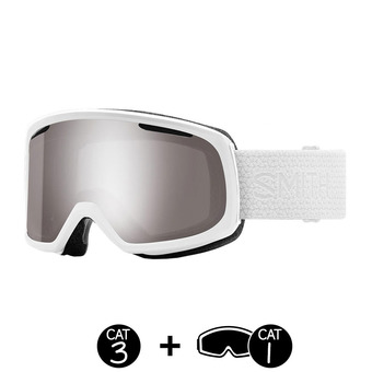Gafas de esquí mujer RIOT white mosaic / ChromaPop sun platinum mirror / yellow