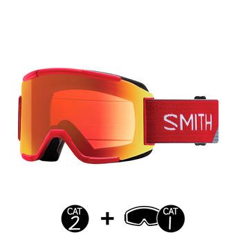 Gafas de esquí SQUAD fire split / ChromaPop everyday red mirror / yellow