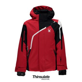 Chaqueta de esquí niño CHALLENGER red/black/white