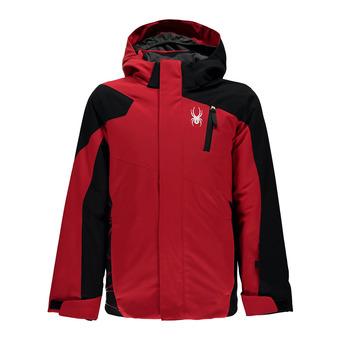 Chaqueta de esquí niño GUARD red/black