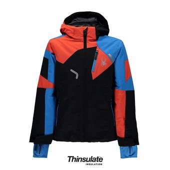 Chaqueta de esquí junior LEADER black/french blue/burst