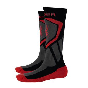 Chaussettes de ski garçon VENTURE black/red/polar