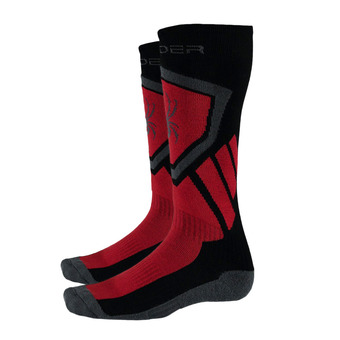 Calcetines de esquí hombre VENTURE black/red/polar