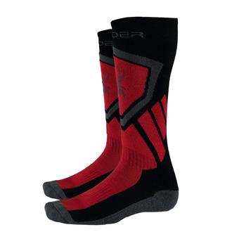 Chaussettes de ski homme VENTURE black/red/polar