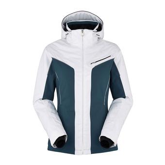 Chaqueta de esquí mujer MORIOKA 3.0 white/midnight blue