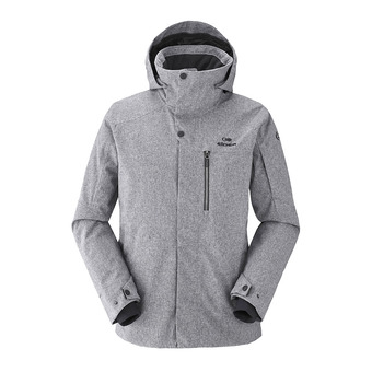 Chaqueta de esquí hombre THE ROCKS lunar grey heather
