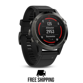 Montre GPS Fenix 5 gris/noir