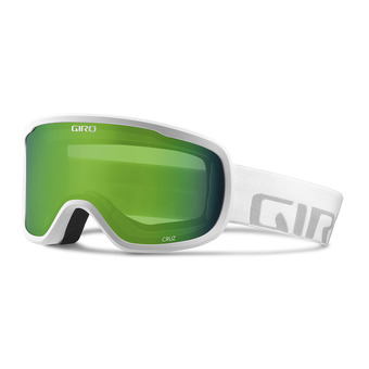 Gafas de esquí CRUZ white wordmark - loden green