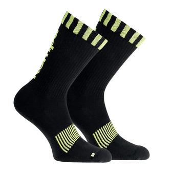Chaussettes CAUTION noir/jaune fluo