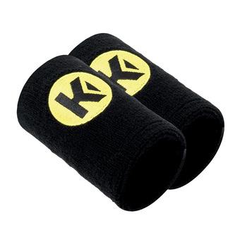 Bracelet éponge CAUTION noir/jaune fluo