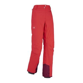 Pantalón de esquí mujer BIG WHITE STRETCH hibiscus