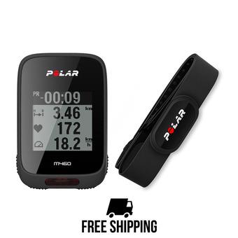 Compteur vélo cardio GPS M460 noir + ceinture cardio H10