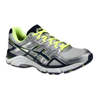 Chaussures running homme GEL-FORTITUDE 6 lightening/medieval blue/safety yellow