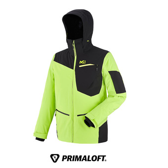 Veste à capuche homme IKAM STRETCH acid green/black