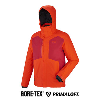 Veste à capuche Gore-tex® homme RESCUE orange/deep red