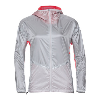 Chaqueta mujer ZEROWEIGHT silver/fiery coral