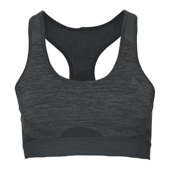Sujetador deportivo mujer SEAMLESS MEDIUM black/odlo steel grey
