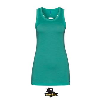 Camiseta de tirantes mujer NATURAL CERAMI-WOOL pool green