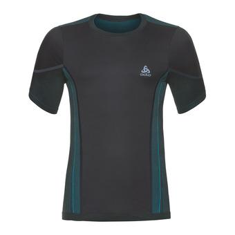 Camiseta térmica hombre PERFORMANCE WINDSHELL black/lake blue