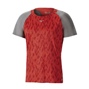 Camiseta hombre AERO mars red/castlerock