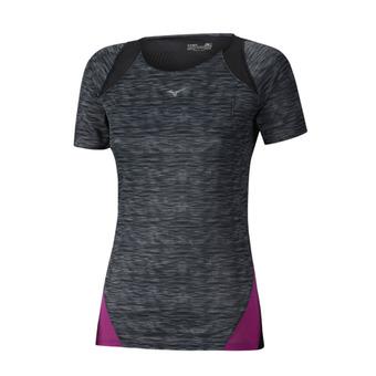 Camiseta mujer AERO black prt/clover