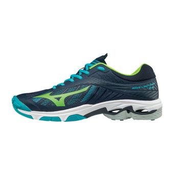 Chaussures de handball homme WAVE LIGHTNING Z4 blue/green/blue
