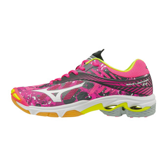 Zapatillas de voleibol mujer WAVE LIGHTNING Z4 pinkglo/white/irongate