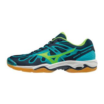 Zapatillas de balonmano hombre WAVE PHANTOM blue/green/blue