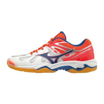 Chaussures de handball femme WAVE PHANTOM white/tileblue/fierycora