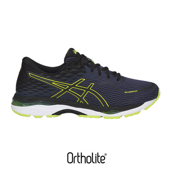 Zapatillas de running hombre GEL-CUMULUS 19 indigo blue/black/safety yellow