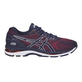 Chaussures running homme GEL-NIMBUS 20 indigo blue/fiery red