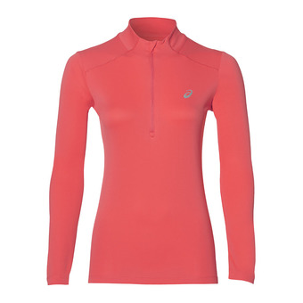 Maillot ML 1/2 zip femme TOP performance coralicious