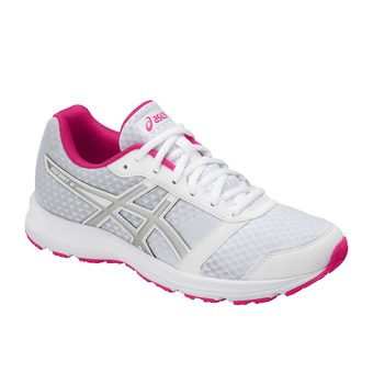 Chaussures running femme PATRIOT 9 white/silver/fuchsia purple