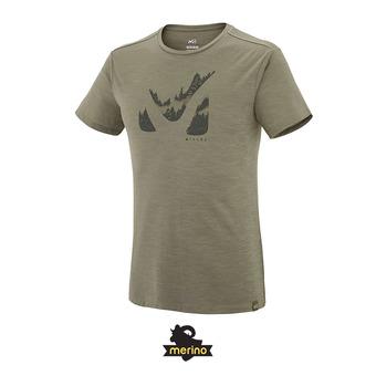 Tee-shirt MC homme AKNA WOOL grape leaf