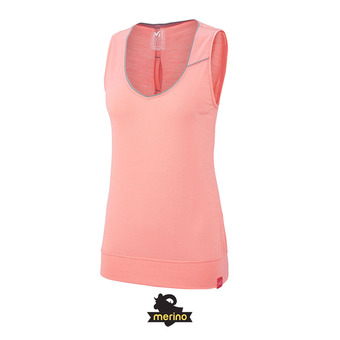 Camiseta de tirantes mujer CLOUD PEAK WOOL peach