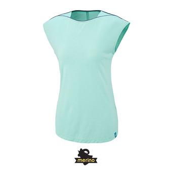 Tee-shirt MC femme CLOUD PEAK WOOL pool blue