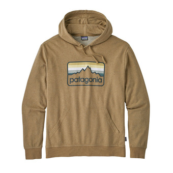 Sweat à capuche homme LINE LOGO BADGE LW coriander brown