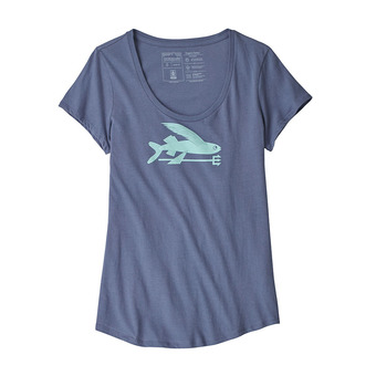 Tee-shirt MC femme FLYING FISH ORG SCOOP dolomite blue