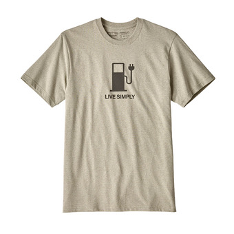 Tee-shirt MC homme LIVE SIMPLY POWER RESP shale