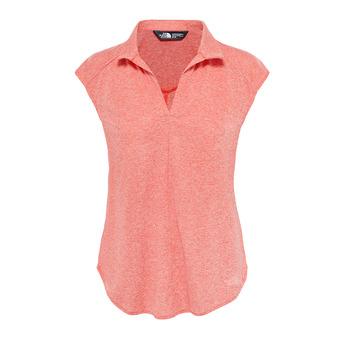 Camiseta mujer INLUX fire brick red heather