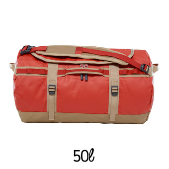 Bolsa de viaje 50L BASE CAMP S bossa nova red/kelp tan
