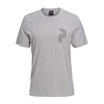 Tee-shirt MC homme TRACK med grey melange