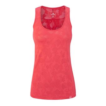 Camiseta de tirantes mujer FLEX JACQUARD spicy coral