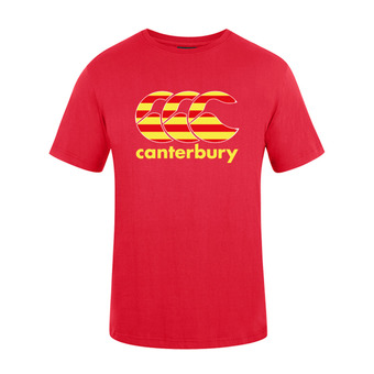 Camiseta hombre TEAM PLAIN red catalogne