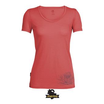 Tee-shirt MC femme TECH LITE SCOOP poppy red