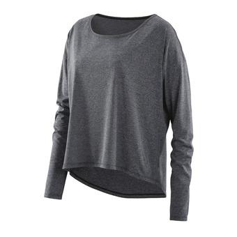 Tee-shirt ML femme ACTIVEWEAR PIXEL black/marle